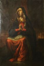 F3-028. VIRGIN OF THE PAINFUL. SPANISH SCHOOL. OIL ON CANVAS. CENTURY XVII.