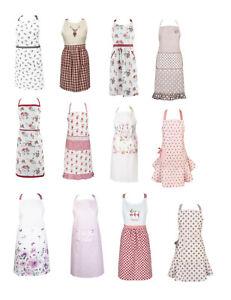 Clayre und Eef Schürze Küchenschürze Küchentextilien Landhaus rosa beige Blumen