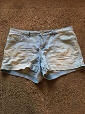 Faded Glory Light Blue Shorts, Size 14, In New Condition