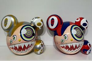 Takashi Murakami Mr DOB Figure Gold And Red/Blue Set Of 2 By Bait & ComplexCon