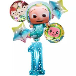 6pcs Cocomelon Foil balloons, birthday party Decorations Supplies.