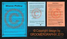 DOG GROOMING - SHAVE POLICY SET stationery by GROOMERGRAPHIX