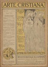 ARTE CRISTIANA GENNAIO 1930 SAN NICOLA DI TOLENTINO MILANO MOSTRE PRESEPE GENOVA