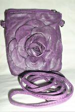 Mobile Phone Shoulder Strap Bag Clutch Purse Square 3D Flower Rose     F002