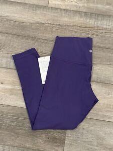 "LULULEMON Align High Rise 25"" Pant Tight Sz 12 Midnight Orchid Purple MORC NWT"