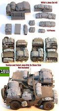 1/35 Scale Willys Jeep Set #2 - 10 Pieces - Resin Stowage ValueGear