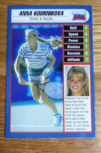 ANNA KOURNIKOVA TENNIS CARD SPORTED MAGAZINE 1997 NEAR MINT