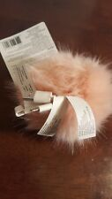 Blush Fur Keychain Smartphone Charger By Bead Landing iPhone Android USB NWT