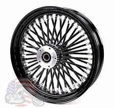 "Black Out 16"" X 3.5"" 48 Fat King Spoke Rear Wheel Rim Harley Touring Softail"
