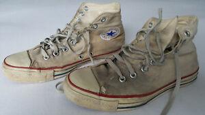 Converse Chucks, high, beige, 8,5 (42), getragen, fertig, ausgelatscht