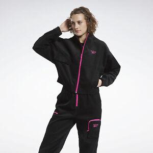 1993 Reebok raspberry watercolor track suit new with tags Womens M windbreaker jacket set 90s lined zip windpants