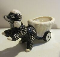 Vintage poodle figurines - planter