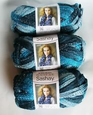 NEW 3 Skeins Red Heart Boutique Sashay Jive Blue Green Yarn 3.5 oz SAME DYE LOT