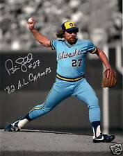 "Brewers PETE LADD Signed 8x10 Photo #3 AUTO - w/ "" '82 AL CHAMPS"""