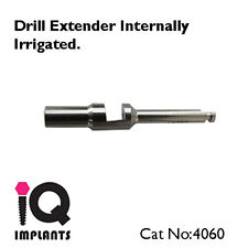 Drill Extender for Dental Implants.Internal Irrigation.