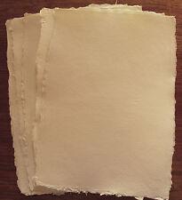 Echt handgeschöpft Büttenpapier, Briefpapier, cremefarben, 5 Blatt A4, 120g/m²