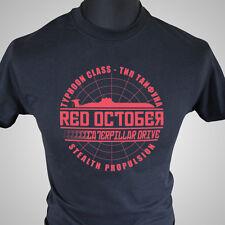La Caza para Rojo Octubre Película Tema Retro Camiseta Submarino Urss Soviético,