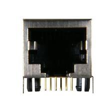 5x 8P8C RJ45 Modular Jack PCB Side Entry Shielded Round Pin (#688-8815)