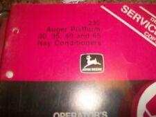 John Deere Operator'S Manual 230 Auger Platform 30,35,60,& 65 Hay Conditioners
