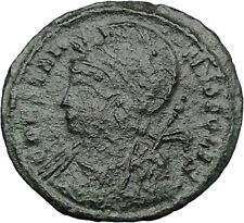 Constantine I The Great founds Constantinople Ancient Roman Coin Nike i32443
