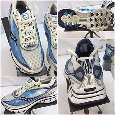Saucony Kinvara Sz 6 Women White Blue Running Shoes Worn 2x YGI F7