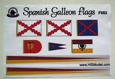 Revell Spanish Galleon - set of flags and Draft scales for model, 1:96