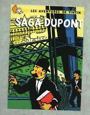 Carte Postale Tintin PASTICHE - SAGA DUPONT.  Boîte aux Images 2018