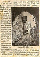 JERUSALEM LA VOIE DOULOUREUSE PORTE BAB-HITA ADP JULES HOCHE 1897