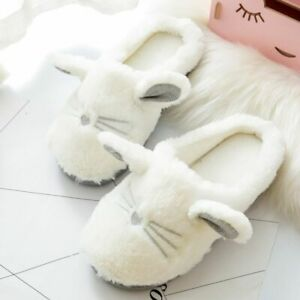 Cute Winter Slippers Women Home Cat Lovers Girl Indoor Soft Non-slip Plush Shoes