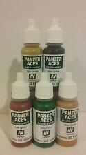 Vallejo Panzer Aces 17ml  acrylic paint, 5 pcs bundle.