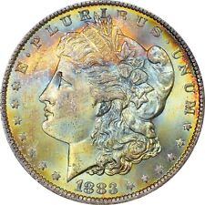 1883-O NGC MS-65* (Star) Morgan - Beautiful EOR Colorful Tone - PQ!