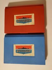 Vintage Battleship Red and Blue Gameboard Tray Case Game Part Replacement