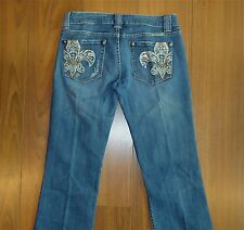 AWESOME WOMENS SIZE 29 MISS ME JP4738A JEANS LOW RISE BOOT ACTUAL 31X34