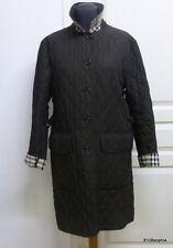 BURBERRY Manteau matelassé marron intérieur tartan 44 XL quilted coat
