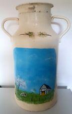 More details for vintage french milk can pot churn / pot a lait aluminium 10 gallon