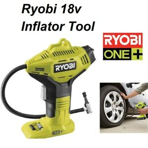 Ryobi 18V Pressure Tyre Inflator 150PSI Cordless Portable Battery Operated ONE+