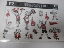 Indiana Hoosiers Family Sticker Sheet. With 13 vinyl Stickers.   #572