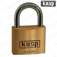 KASP RATED 4 HEAVY DUTY PADLOCK 30mm SOLID BRASS Secure Garden Gate Shed Lock