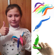 2Pcs Magic Trick Twisty Fuzzy Worm Wiggle Moving Sea Horse Funny Life For Kids