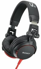 Sony MDR-V55 Headphones Over the Ear / Black & Red / Brand New - Free Shipping!