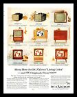 1956 RCA Victor Living Color Television Vintage PRINT AD Christmas Santa 1950s  photo