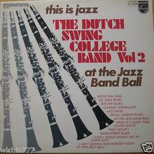 "The Dutch Swing College Band This is Jazz Vol 2 LP 12"" 33rpm 1970 vinyl (fair)"