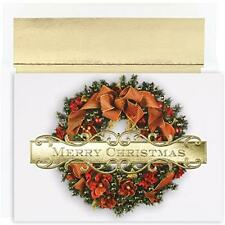 Masterpiece Studios Boxed Cards, 18-Count, Christmas Wreath (847900), New, Free
