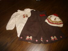 GYMBOREE 6-12 GINGERBREAD GIRL dres one peice hat set