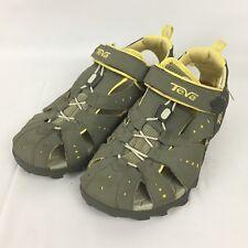 TEVA Dozer Womens 8 Athletic Walking Sandals Yellow Gray