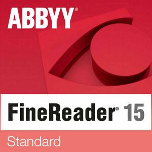 ABBYY Finereader 15 Standard Upgrade ESD Vollversion NEU direkt per Mail