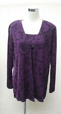Purple twin set sparkly evening top and cardigan Berkertex size 16