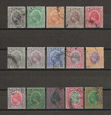 MALAYA/PERAK 1935-37 SG 88/102 USED Cat £55