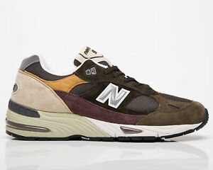 New Balance 991 Made In UK Men's Green Casual Athletic Lifestyle Sneakers Shoes