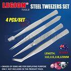 Tweezers 4PCs Set Steel Beads Tool Craft Hobbies Sewing Tweezer